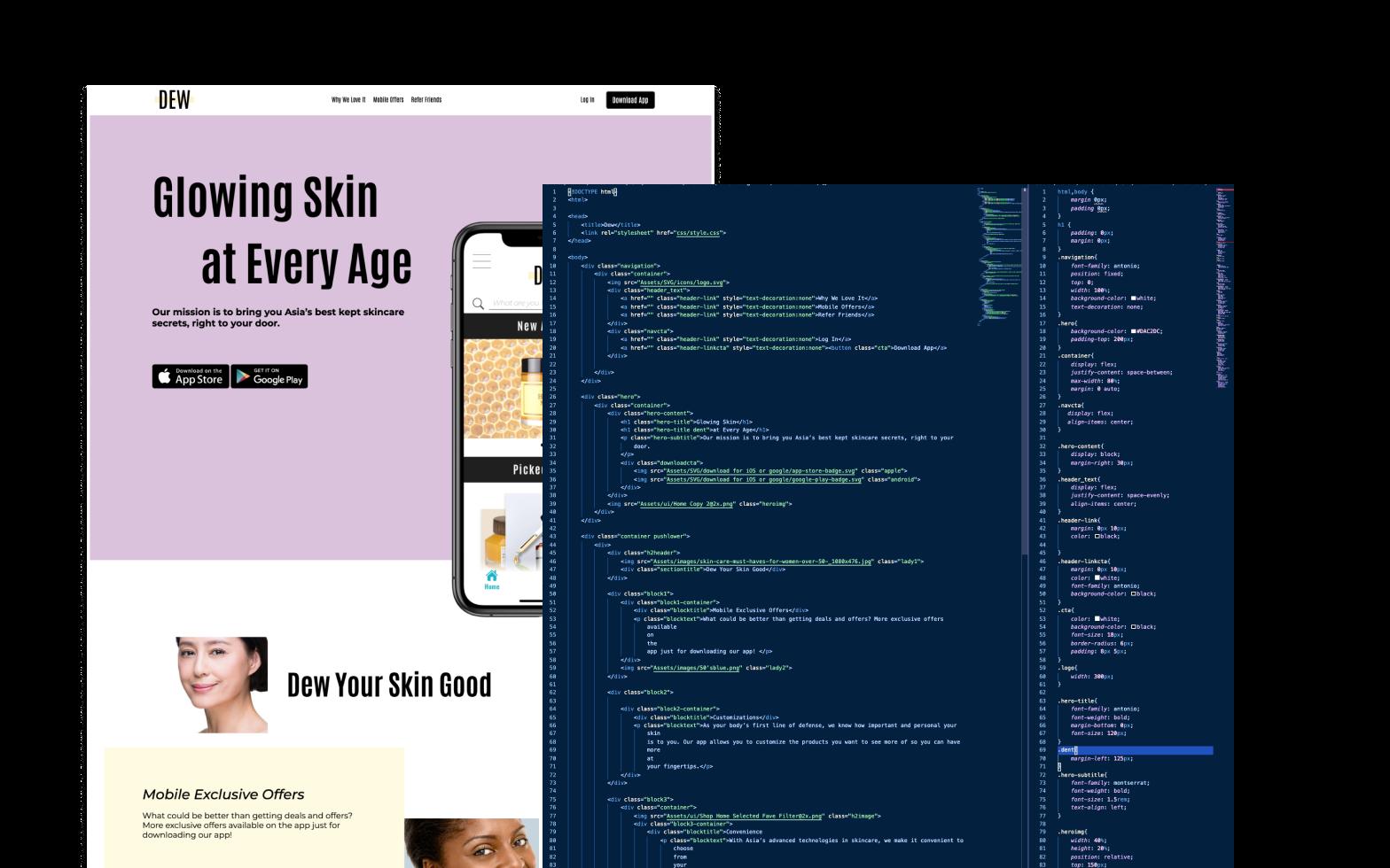 Dev-Dew-about-page-dark